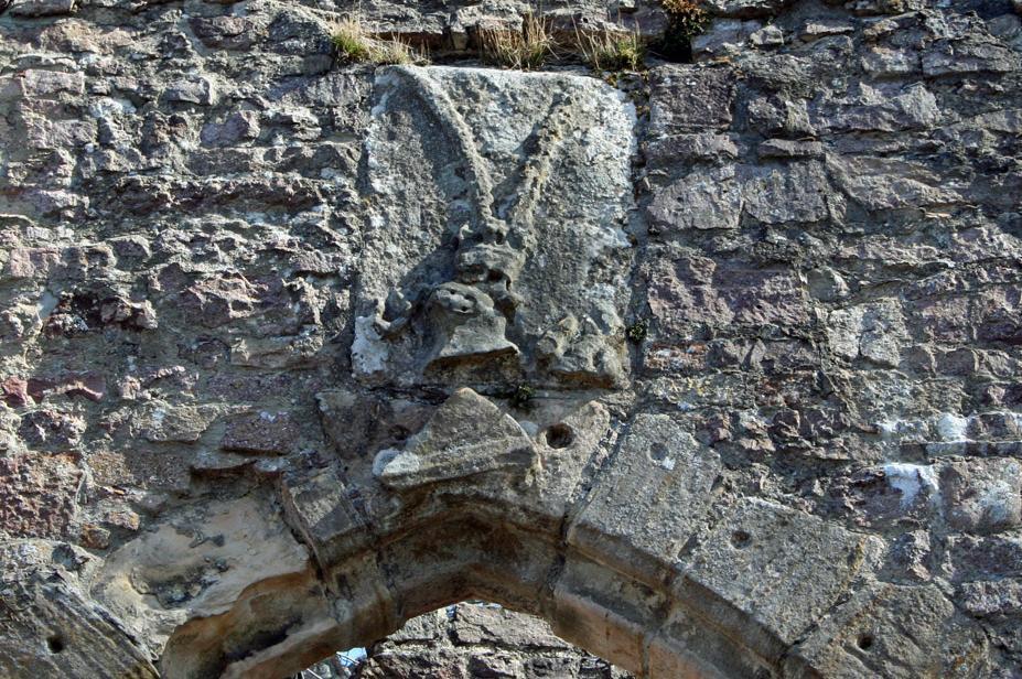 Wappen über dem Torbogen des Alten Schlosses Hohenbaden; Foto: Staatliche Schlösser und Gärten Baden-Württemberg, Sandra Eberle