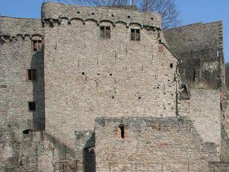Der Hermannsbau des Alten Schlosses Hohenbaden