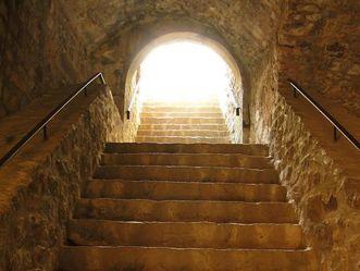 Treppe im Alten Schloss Hohenbaden