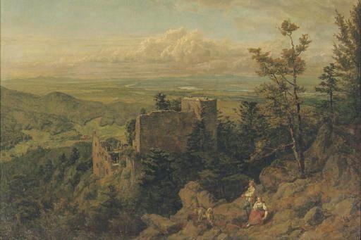 Altes Schloss Hohenbaden, Gemälde von 1889