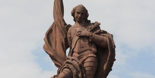 Detail vom Bernhardsbrunnen in Rastatt