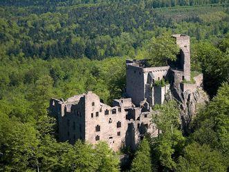 Altes Schloss Hohenbaden, Luftansicht