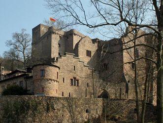 Gesamtansicht des Alten Schlosses Hohenbaden