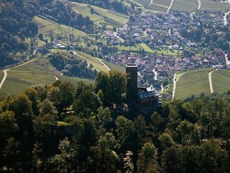 Luftansicht von der Yburg