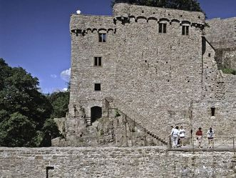 Oberburg mit Hermannsbau und Schildmauer vom Alten Schloss Hohenbaden
