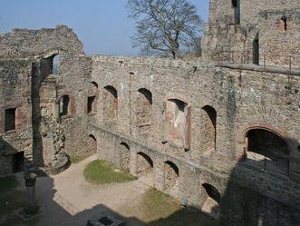 Innenansicht des Bernhardbaus im Alten Schloss Hohenbaden