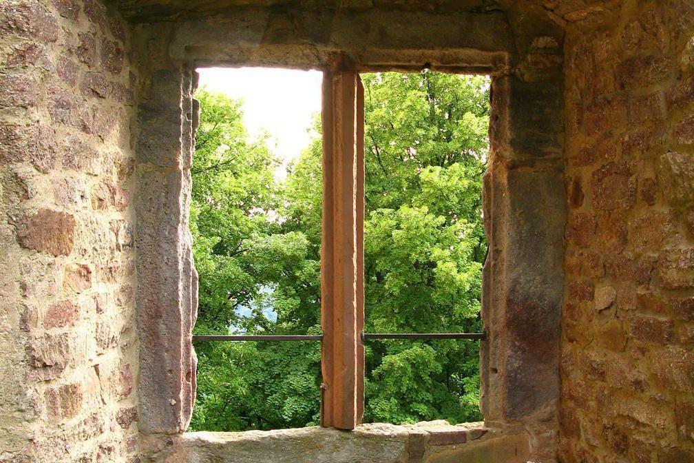 Fenster im Alten Schloss Hohenbaden